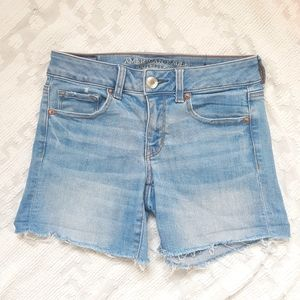 American Eagle Midi Denim Shorts
